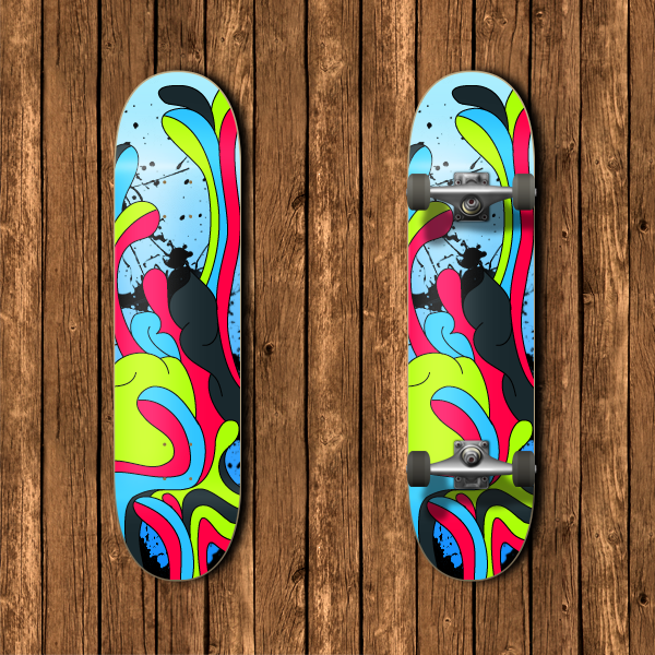 exceptional vector skateboard deck by alvaro93 - Skateboard Design Ideas