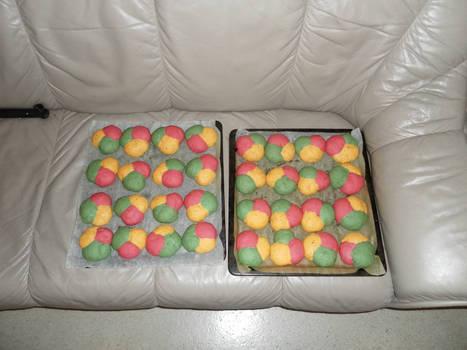 Rainbow buns