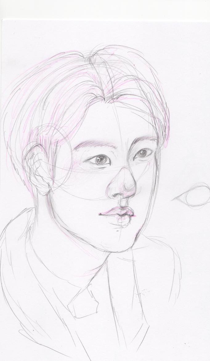 SeokJin sketch by PondoTart