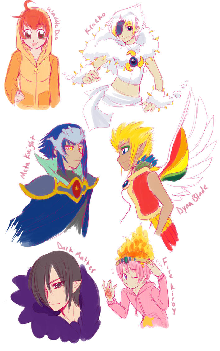 Anime Characters Kirby Wiki : Kaabii no hoshi characters by zilleniose on deviantart