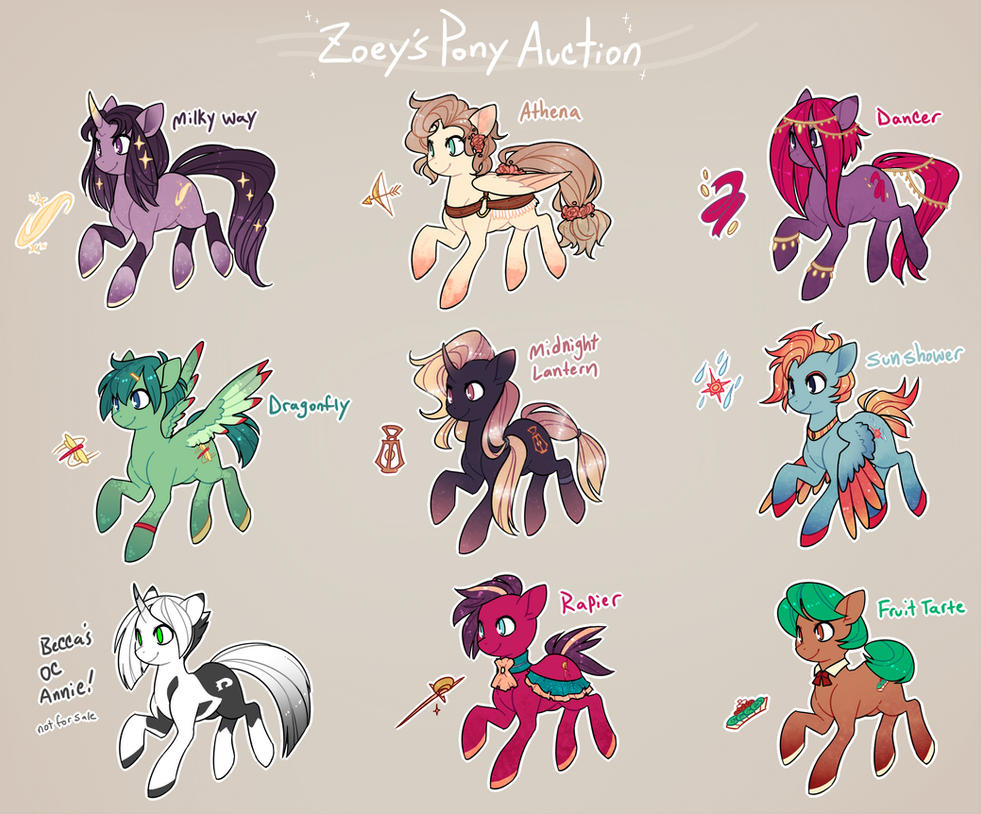 Mlp Pony Auction Closed By Zilleniose On Deviantart