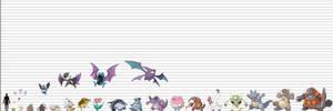 Pokemon Size Chart: Other Mammals