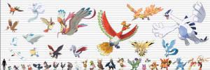 Pokemon Size Chart: Avian