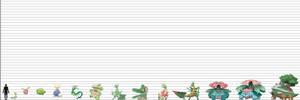 Pokemon Size Chart: Plant Reptiles