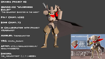 Orimeda Project #3 GNM00-MX 'Wilderness Bullet' by TheMedarotter