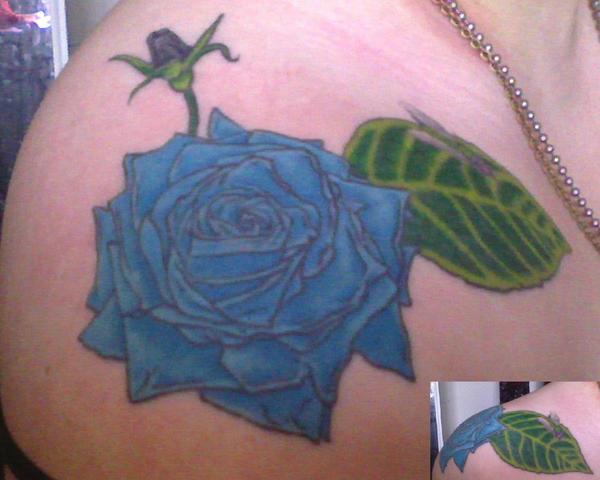 Blue Rose Tattoo by arsenicbreathmint on deviantART