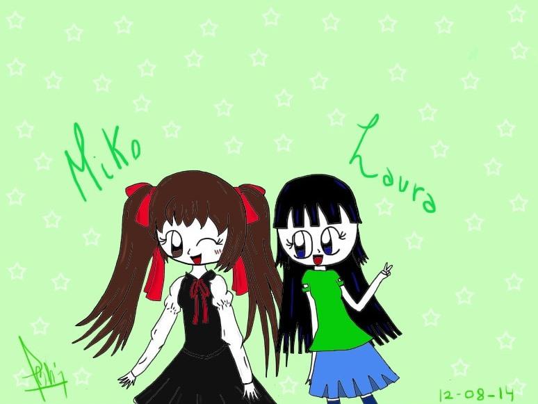 Miko and Laura by DigitalPokeLau