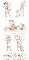 Helga and Abner by vakurii