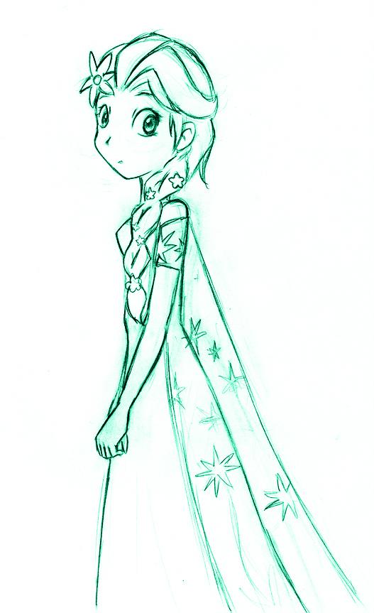 Frozen Fever Elsa sketch by Laphyn