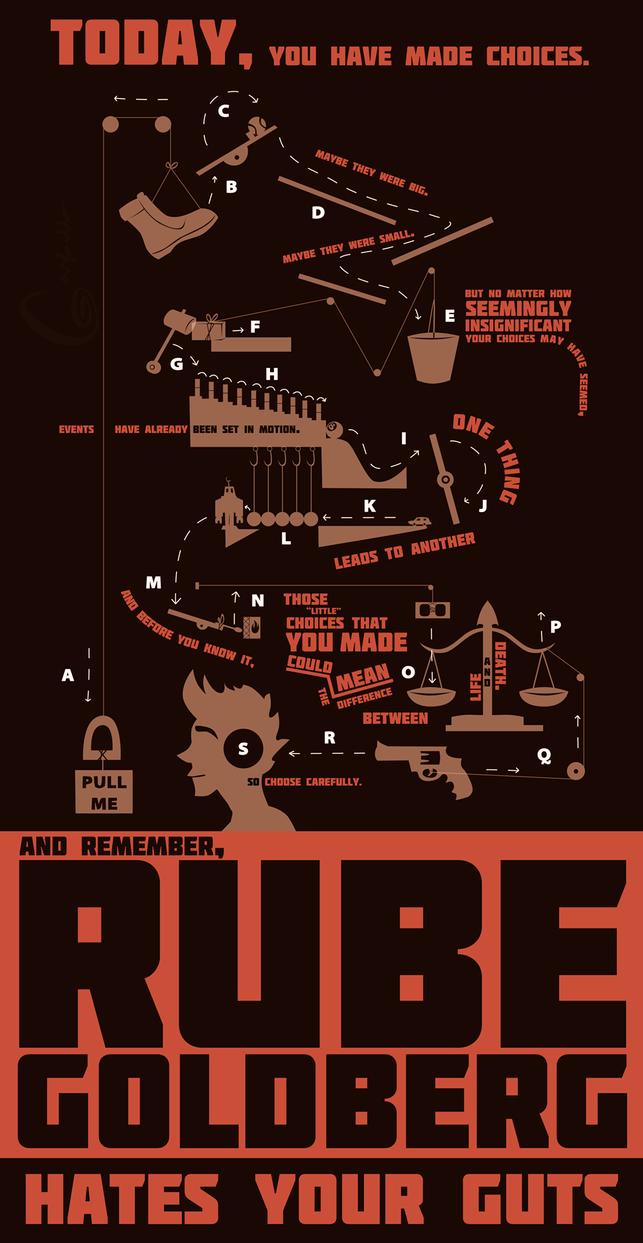 RUBE GOLDBERG HATES YOUR GUTS by TG-Garfieldo