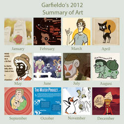 2012 Summary of Art by TG-Garfieldo
