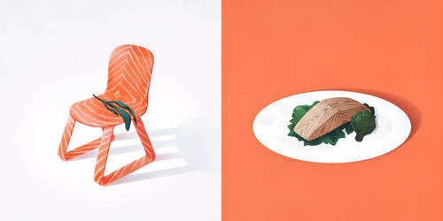 Salmon and seat by maria-menshikova