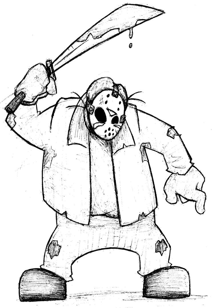 cartoon jason by bug