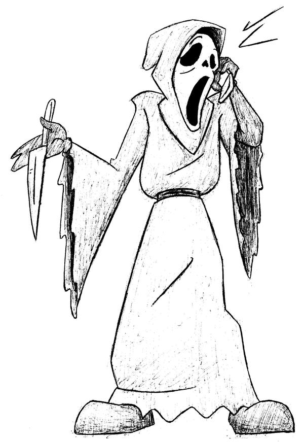 Ghostface From Scream - Free Coloring Pages