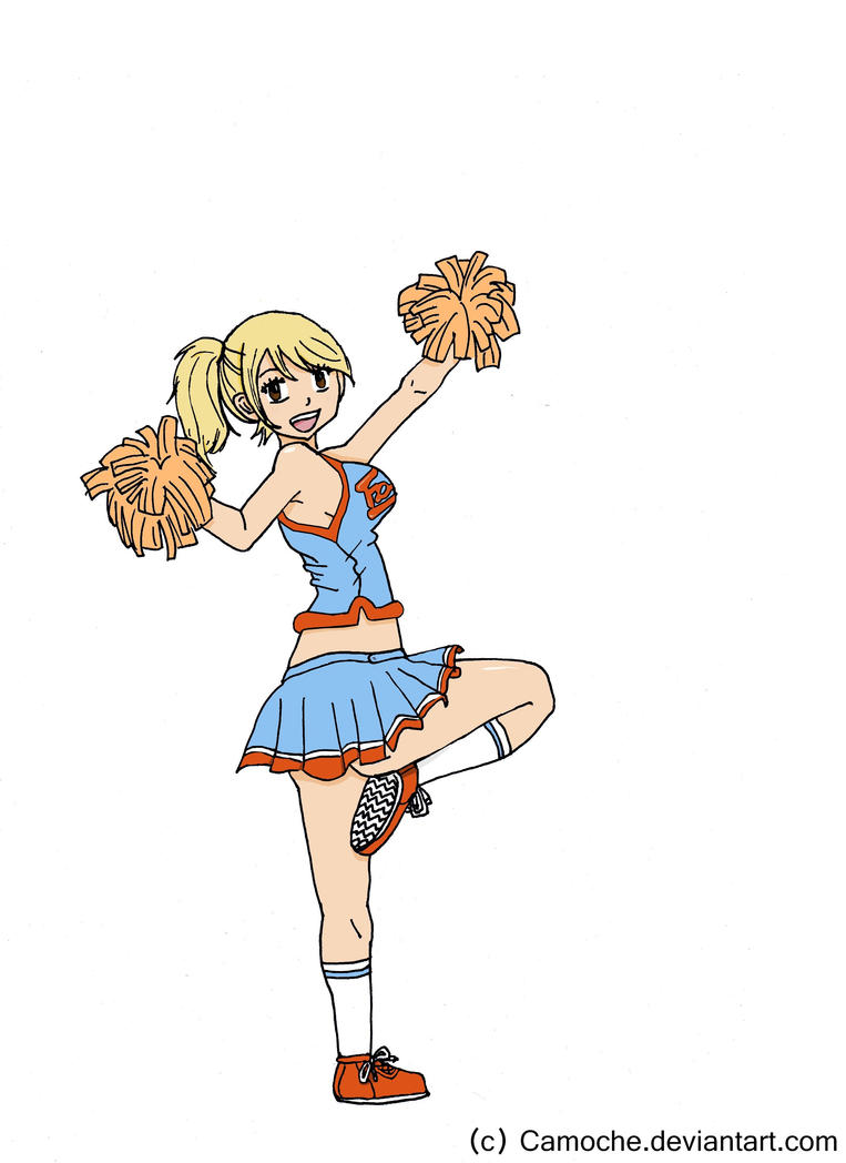 Dessins d'une patate cuite au four - Page 2 _colored__lucy_cheerleader_by_camoche-d5g8ins