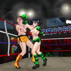 Sabrina vs Kyda 1 by BeanieTheBoxer