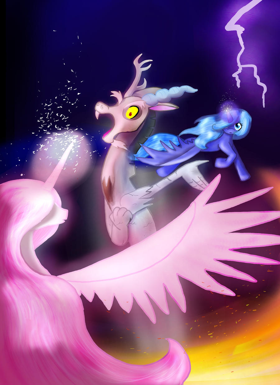MLP Fan Art: Sealing Discord by Mephikal