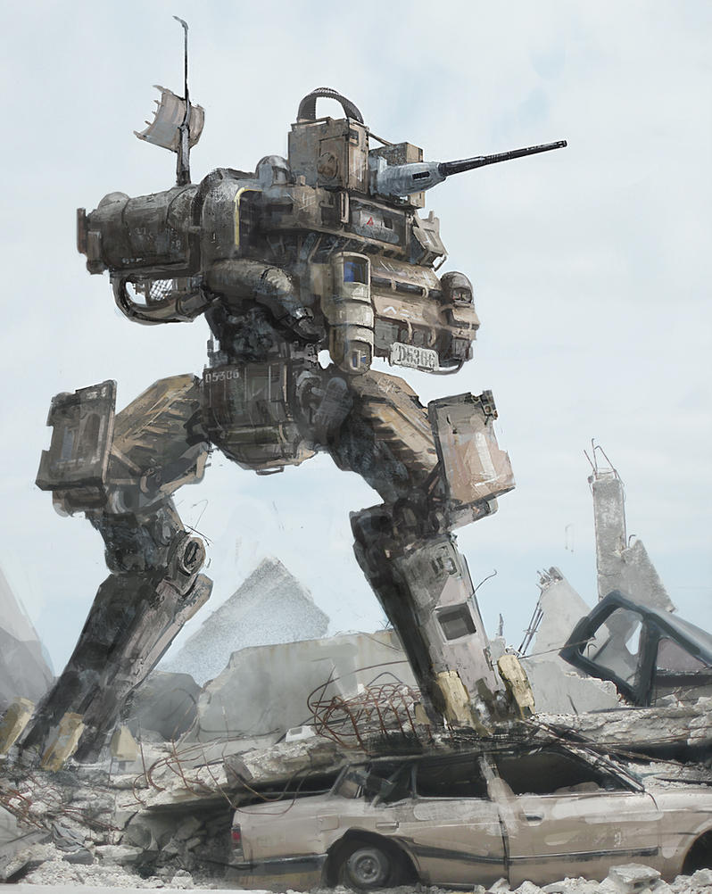 2 legged mech by cjuzzz