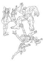 Marvel Super Heros by pietro-ant