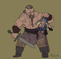 A Viking and his daughter