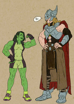 Thor and She Hulk