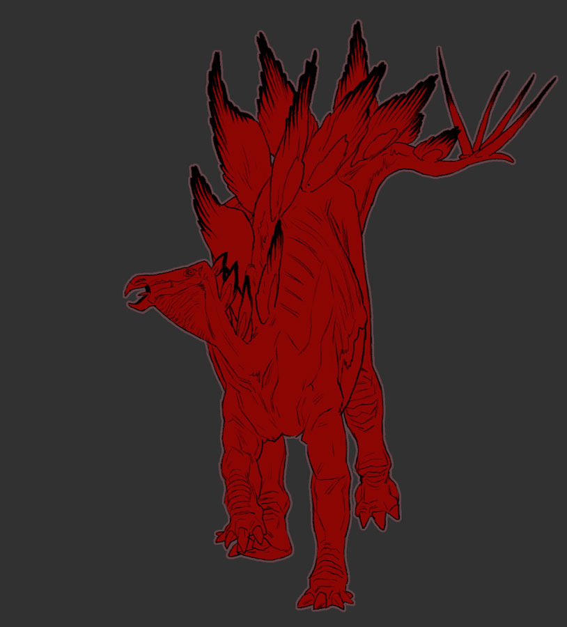 Bloody stegosaurus by pietro-ant