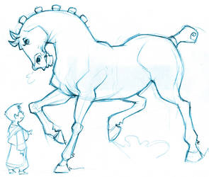 Horse and Boy by pietro-ant