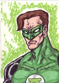 Green Lantern Sketchcard by brickmickasso