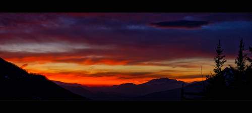 Sunset in the Orres - panorama by Alexinger