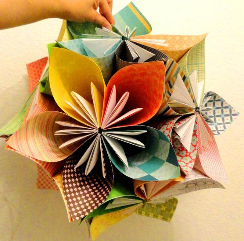 Origami flower ball by fantasical on deviantart origami flower ball by fantasical mightylinksfo