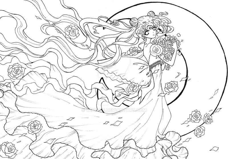 Princess Serenity Coloring Pages : Sc moon princess serenity by wingsie on deviantart