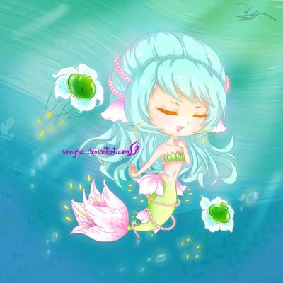 OC - Ocean melody by Wingsie