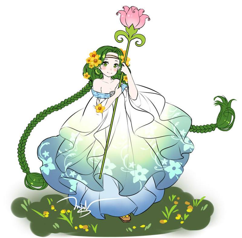 Dessie the Harvest Goddess by Wingsie