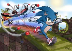 Sonic The Hedgehog (2020) by CaptainArmada