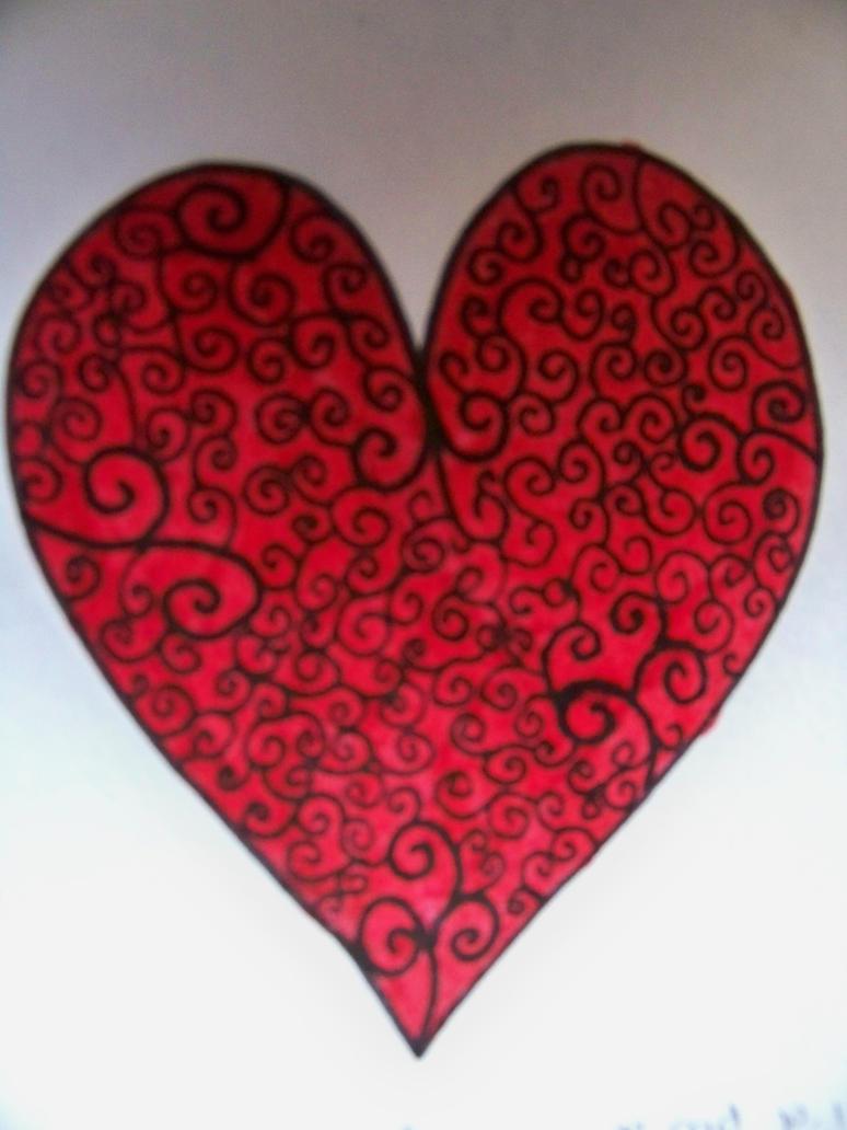 italic heart design by misfitskid13 on deviantart. Black Bedroom Furniture Sets. Home Design Ideas
