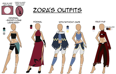 Zora the Fenrid's Outfits