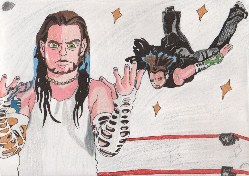 Jeff Hardy Swanton Bomb By Mikki Ailron On Deviantart Jeff Hardy Color Drawing