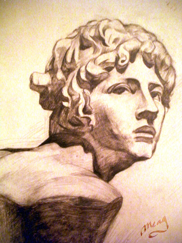 Greek God Apollo Statue Head By Moonlightamber On Deviantart