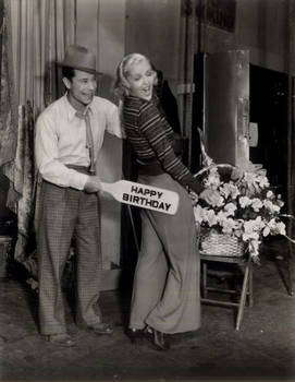 Joe E Brown + actress Patricia Ellis