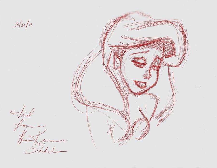Ariel Sketch Glen Keane Ariel_from_a_glen_keane_sketch ...