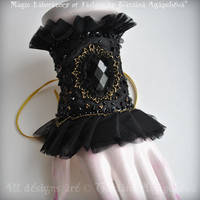 Decadence Black Dupioni cuff by TianaChe