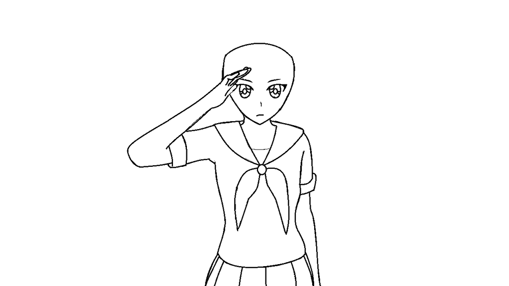 Yandere simulator base 2 female read description by for Yandere simulator coloring pages