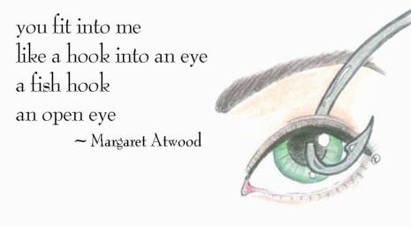 you fit into me by margret atwood You fit into melike a hook into an eyea fish hookan open eye provide your analysis, explanation, meaning, interpretation, and comments on the poem you fit into me here.