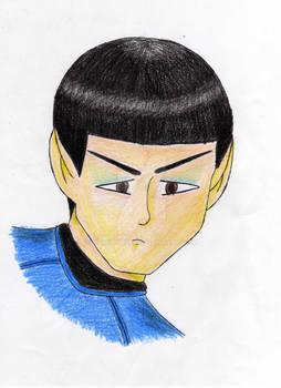 cartoon-y Spock