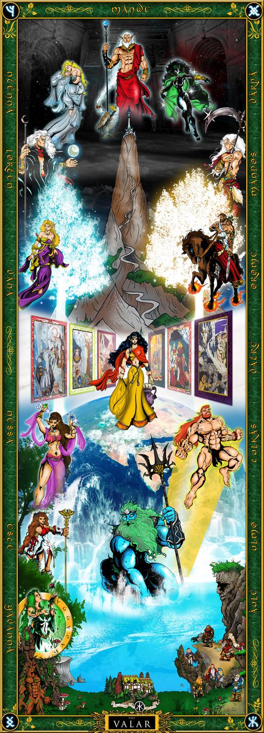 The Valar - Tolkien Artwork by whittingtonrhett