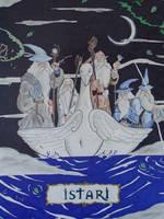 Arival of the Istari Wizards. by whittingtonrhett