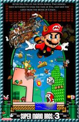 Mario Bros 3 Poster with Border by whittingtonrhett