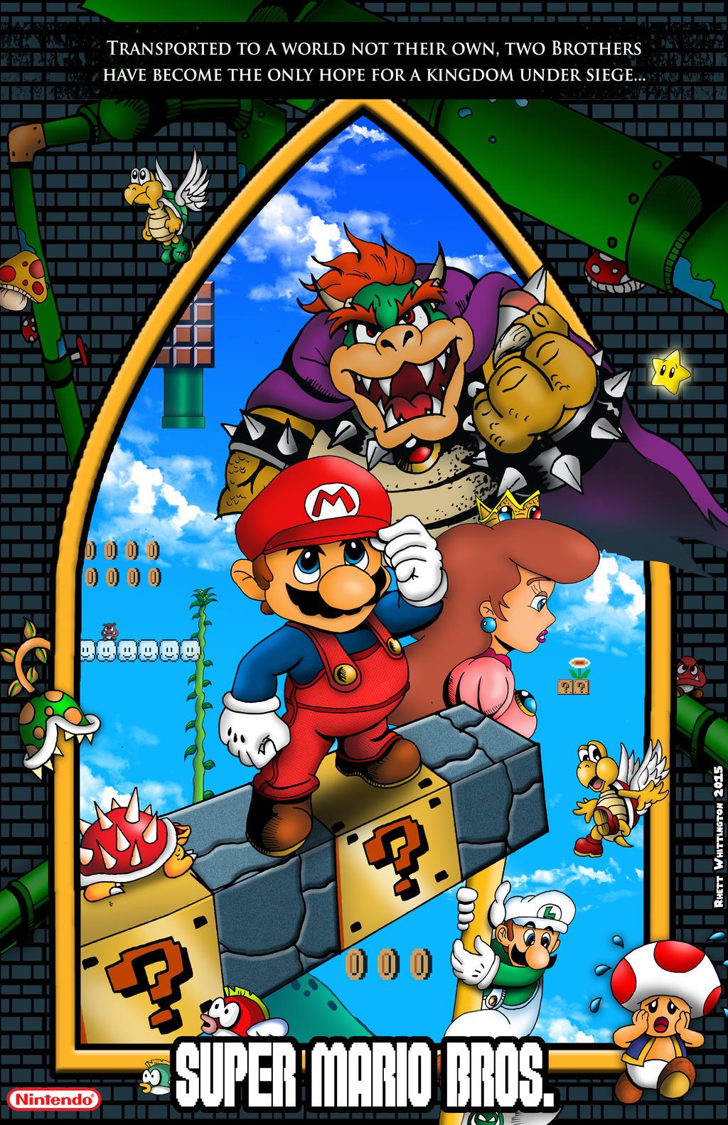Super Mario Bros Poster By Whittingtonrhett On Deviantart