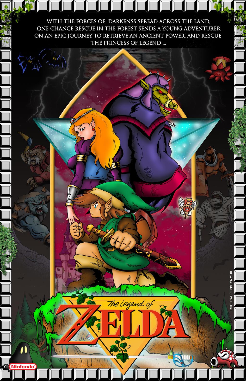 legend of zelda nes poster by whittingtonrhett on deviantart nintendo nes service manual nintendo nes manual pdf