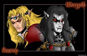 Morgoth and Sauron by whittingtonrhett